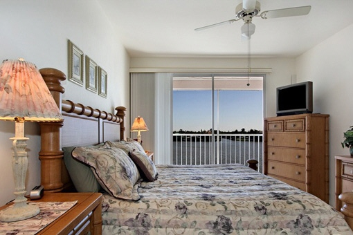 Master bedroom with comfortable bed