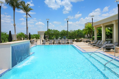 Huge community pool