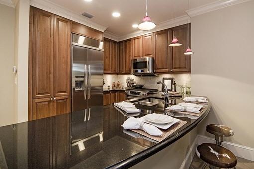 High-class kitchen with breakfast bar