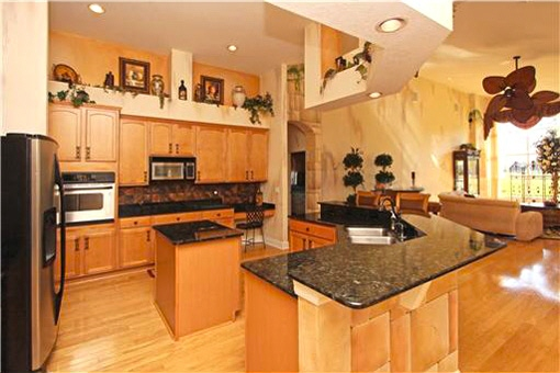 Fully equipped open style kitchen