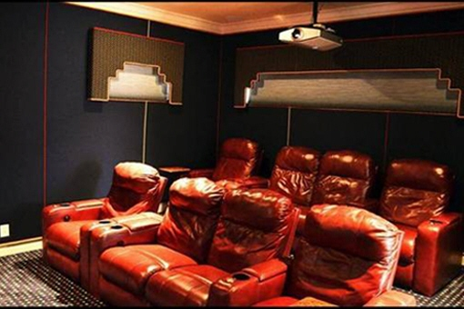 Cinema room in the house in Fort Myers
