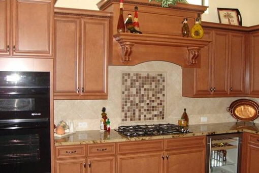 Charming fully equipped kitchen with glass front refrigerator in Fort Myers