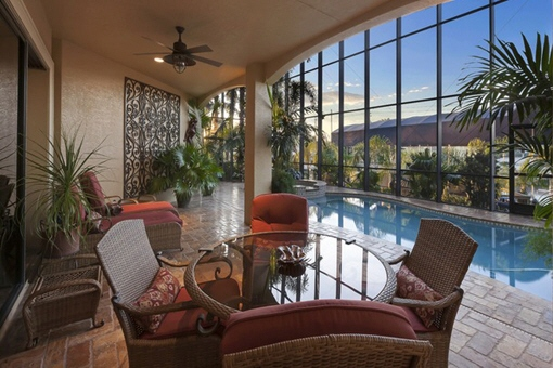 Fascinating terrace with pool in Fort Myers