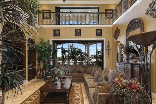 Beautiful living room on the first floor in Fort Myers