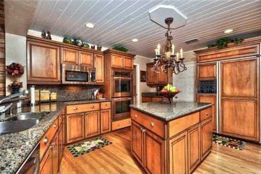 Big wooden kitchen